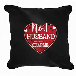 Personalised No.1 Belongs To Heart Cushion  Cover Anniversary Valentines Gift
