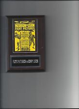 FLOYD PATTERSON vs SONNY LISTON POSTER PLAQUE BOXING CHAMPION PHOTO PLAQUE