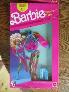 Barbie Western Fun Fashions  #9953 New NRFP 1989 Mattel
