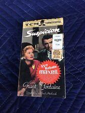 Suspicion VHS 1985 Alfred Hitchcock Cary Grant Joan Fontaine VHSshop.com