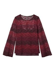 BNWOT BANANA REPUBLIC OMBRE BELL SLEEVE LACE TOP