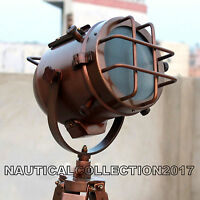 Nautical Beautifull Copper Antique Marine Studio Spot Search Light - Vintage.