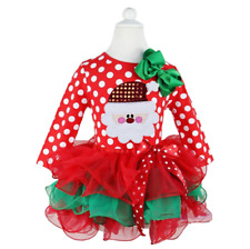 Girls Christmas Santa Dress Tutu Style
