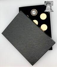 PB5 Air-tite Coin Holder Black Box Gold Insert + Model A Storage Capsule Case