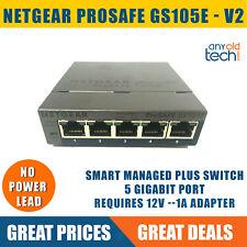 Netgear GS105Ev2 5-Port Gigabit Smart Managed Plus Switch  Unit Only* VAT Inc
