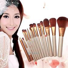 12x Pro Makeup COSMETIC Brush Set Foundation Eyeshadow Eyeliner Lip Brushes Tool