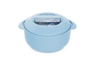 LEO LUXURY FOOD WARMER INSULATED STAINLESS STEEL CASSEROLE KEEPS FOOD WARM 1LTR