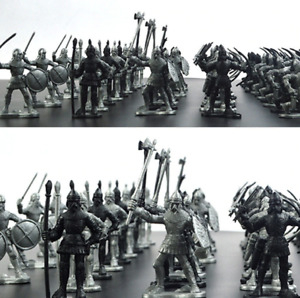 60 Pieces Set Medieval Knights Army Military Archer Plastic Toy Miniature Models