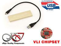 Boitier Aluminium USB 3.1 (10G) M2 pour SSD M.2 NGFF Type SATA - CHIPSET VIA VLI