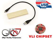 Caja Aluminio USB 3.1 10G M2 para SSD M.2 NGFF Tipo SATA CHIPSET A TRAVÉS DE VLI