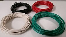 14 GAUGE WIRE WHITE GREEN RED & BLACK PRIMARY AWG STRANDED COPPER POWER REMOTE