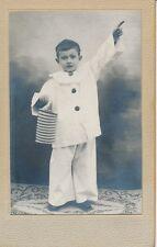 CDV c. 1890 - Enfant Petit Garçon Déguisement Clown Pierrot  - 1237