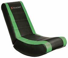 X Rocker Curve Gaming Floor Rocker Chair Black/Green