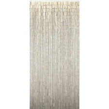 Bamboo Beaded Door Curtain - Plain White (also Room Divider or Wall Art)