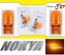 Nokya Light 7440 Orange Amber 21W Nok5201 Two Bulbs Rear Turn Signal Replace Fit