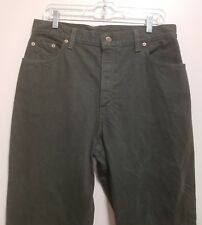 Levi's 551 Woman's Jeans Relaxed Fit Tapered Leg Dark Green Jeans Size M