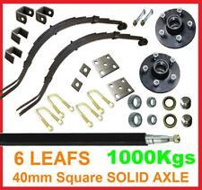 1000kgs Trailer Axle kit Parts Box 6x4 7x4 tilt Tipper DIY springs hub 1 Tonne 2