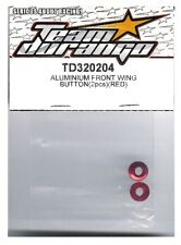 RC Team Durango TD320204 Aluminum Front Wing Button RED DEX210 DESC210 DEX210F
