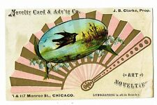 Victorian Advertising Card Advertising Novelty Cards JB Clarke - Chicago - L@@K