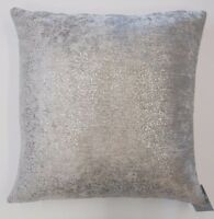 "SILVER GLITTER SPARKLES THICK LIGHT GREY VELVET 18"" CUSHION COVER £7.99 EACH"