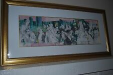 """LEROY NEIMAN SERIGRAPH TITLED """"POLO LOUNGE"""" SIGNED BY LEROY NEIMAN 1989"""