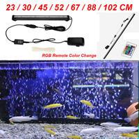 Aquarium Underwater Submersible Air Bubble & Colour Changing LED Fish Tank Light