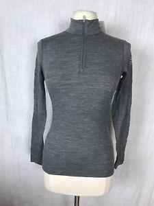 NEW Icebreaker Womens Oasis 200 Bodyfit L/S 1/2 Zip Merino Wool Baselayer XS