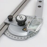 Bevel Protractor 0-360° Steel Universal Angle Square Finder Angular Dial
