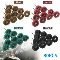 80X Abrasive 25mm Wheel Buffing Polishing Grinding Wheels Dremel Rotary Bit Tool