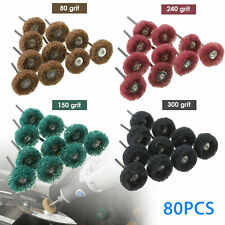 80X Abrasive 25mm Wheel Buffing Polishing Grinding Wheels Dremel Rotary Bit Tool