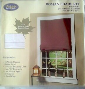 My Home 'Make It Yourself', Wright Co., Roman Shade Kit - New Free Ship