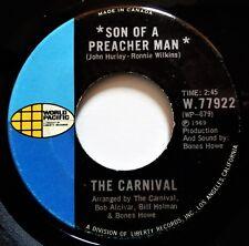 "THE CARNIVAL Son Of A Preacher Man VINYL 45 Soul Funk Dusty Springfield 1969 7"""