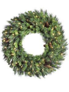 Vickerman 60 in. Cheyenne Pine Unlit Christmas Wreath with Cones, Green, 60 in.