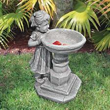 Little Miss Garden Birdbath Sculpture Little Girl Patio Statue