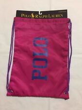 341edb85e4c7 Polo Ralph Lauren Cinch Sack Pink Drawstring Athletic Gymbag Nylon Backpack