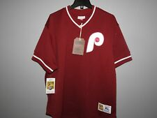 Mitchell & Ness Philadelphia Phillies Baseball Jersey New Mens MSRP $80