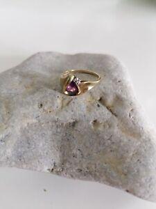 Wunderschöner Ring mit Stein Gold 333,gebraucht,1,7mm