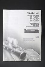 TECHNICS SL-PG580A SL-PG480A/PG380A Bedienungsanleitung/Operating Instructions