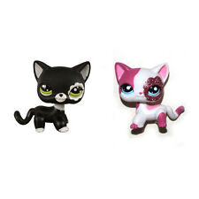 Littlest Pet Shop Sparkle Pink Short Hair & Black Blythe Cat Kitty Figure Toy