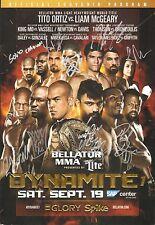 Liam McGeary Saulo Cavalari +7 Signed Bellator MMA Glory Dynamite Event Program