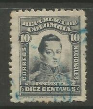STAMPS-COLOMBIA. 1917. 10c Grey. Perf 11½. SG: 362 var. Fine Used.
