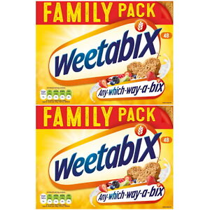 Weetabix Cereal Wholegrain Healthy Biscuits Breakfast Family Pack of 48 or 96