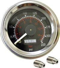 Viair 220Psi BLACK Dual Needle Gauge  Fittings Air Ride