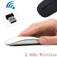 Wireless USB Maus PC Kabellose Mouse Computer Laptop Notebook Funkmaus Slim 2.4G