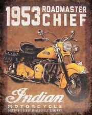 10 x 8 INDIAN AMERICAN MOTORCYCLE MOTORBIKE METAL PLAQUE SIGN OTHERS LISTED N363