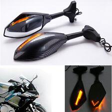 Motorcycle Mirrors With Led Turn Signal Indicator For Kawasaki Ninja Zx11 Zx14 Q