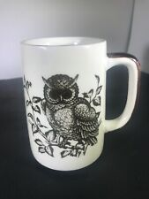 Horned Owl Earth toned Coffee Tea Mug or Harry Potter Butterbeer 5""