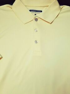 Cypress Club Mens Casual Golf Short Sleeve Performance Polo Shirt Size L Yellow