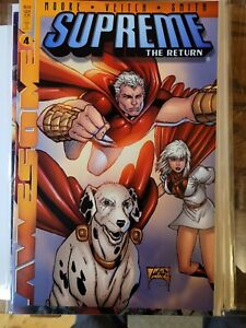 Supreme the Return #4 FN/VF 2000 Awesome Comic Alan Moore Liefeld Cover