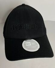 Jagermeister Hat Cap German Alcohol Black on Black Logo Collectible New Era Mesh
